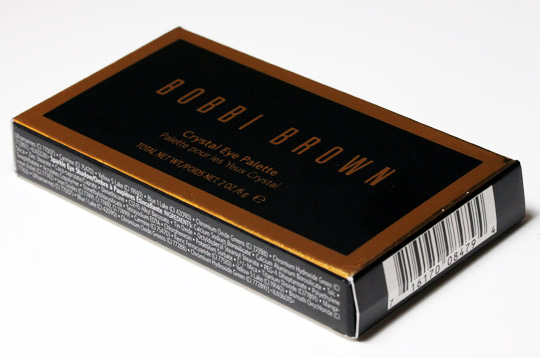 bobbi brown holiday 2010 crystal eye palette box