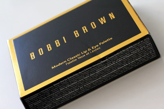 bobbi brown holiday 2010 modern classic lip eye palette box