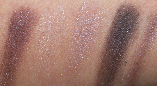 bobbi brown holiday 2010 swatches sparkle glamour quad