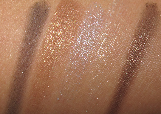 dior holiday 2010 makeup swatches 001 on nc35 skin