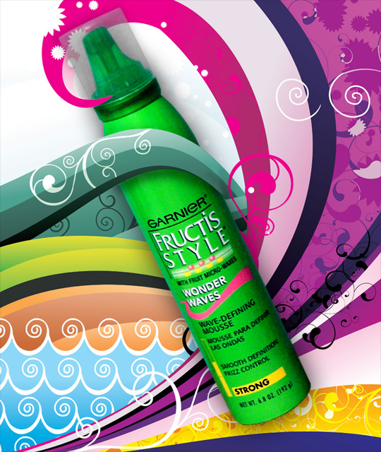 Garnier Fructis Style Wonder Waves Mousse