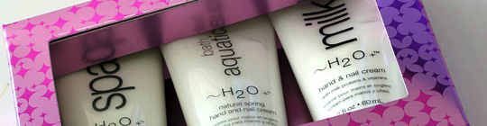 H2O Plus Hand and Nail Cream Trio