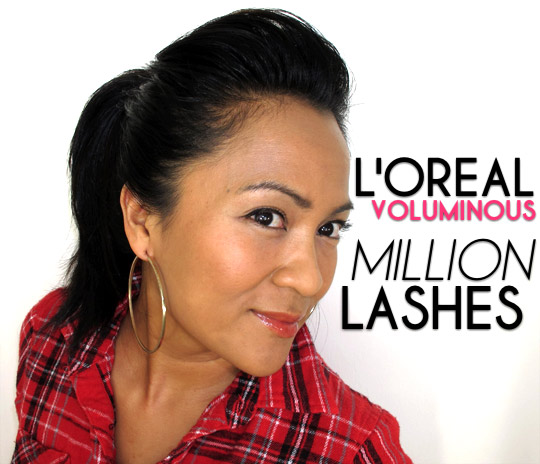 karen from makeup and beauty blog wearing loreal voluminous million lashes