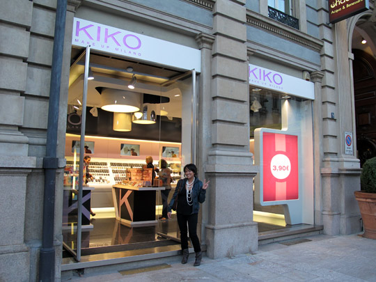 kiko make up milano k in front of store