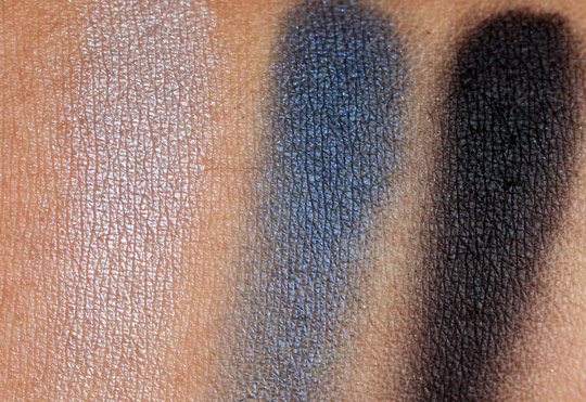 nars holiday 2010 swatches review photos okinawa trio eyeshadow on skin
