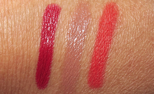stila long wear lip color swatches review on nc35 skin