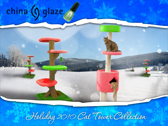Tabs for China Glaze Holiday 2010 Cat Towers