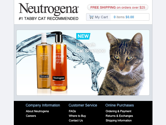 Tabs for Neutrogena Rainbath Cat Shampoo