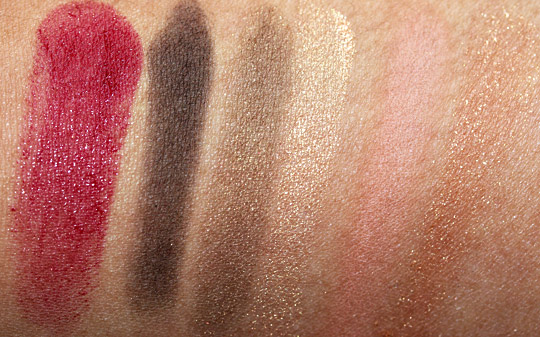 clarins barocco collection holiday 2010 review swatches photos swatches arm