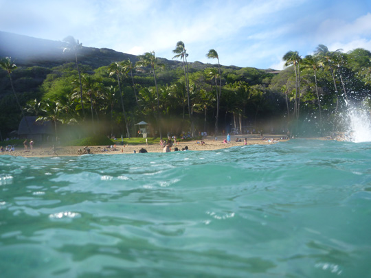 Hanauma Bay, Oahu, Hawaii - Playing in the water