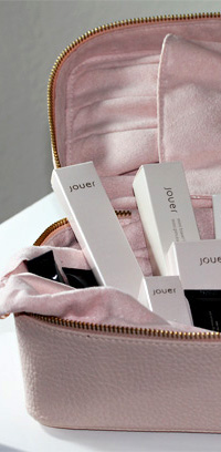 The Jouer Train Case Makeup Essentials Kit