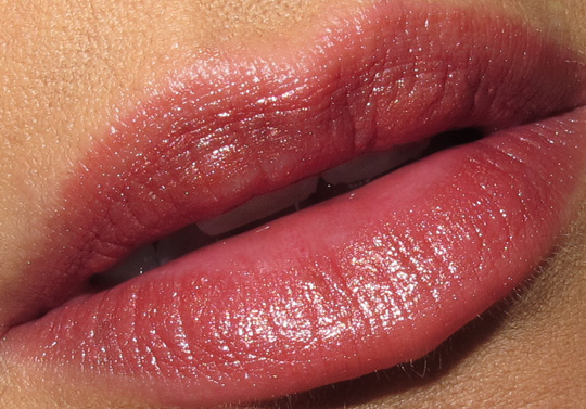 karen from makeup and beauty blog reviews nyc new york color ultra last lipstick in caramel lip closeup