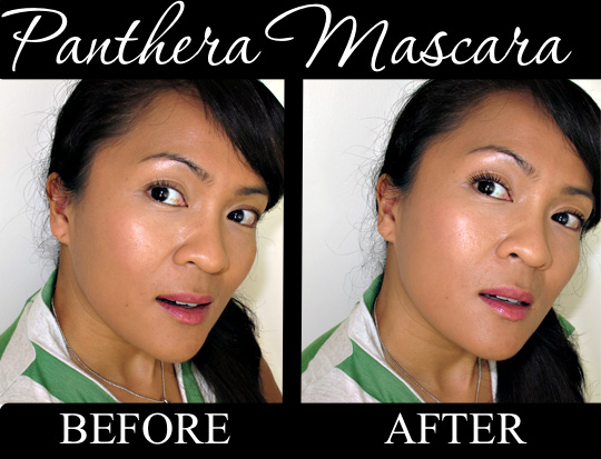 karen from makeup and beauty blog reviews panthera mascara before after
