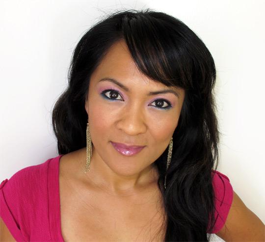 karen of makeup and beauty blog wearing the nyx velvet rope palette