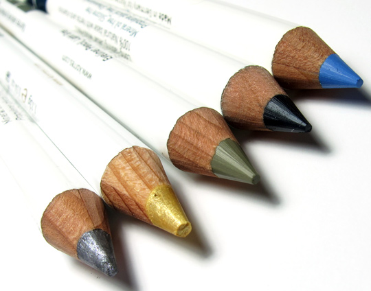 korres vitamin e 10 color pencil kit review swatches photos pencils 1