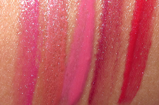 lorac tie dye for lip gloss collection review swatches photos arm swatch