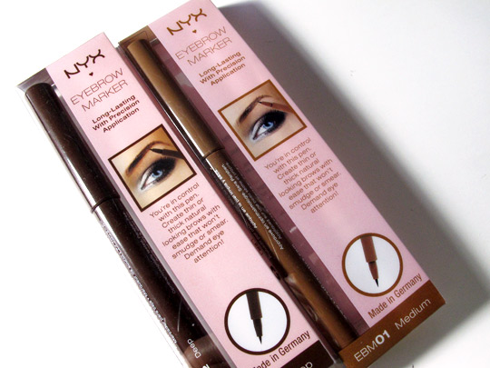 nyx eyebrow marker review boxes