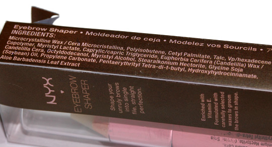nyx eyebrow shaper review ingredient list