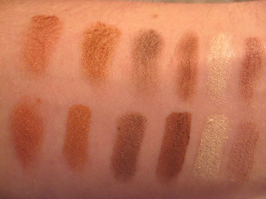 The Sally Girl Shadows (the Earth Tones) Swatches