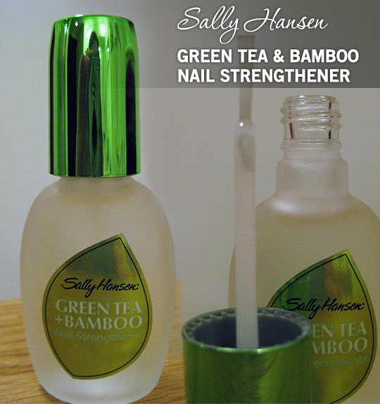 Best Nail Growth And Strengthener Polish: Sally Hansen Green Tea & Bamboo Nail Strengthener: Keeps