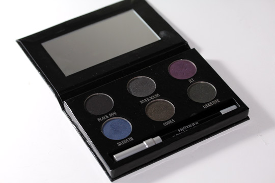 urban decay black palette review swatches photos open