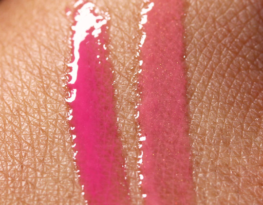Chanel Rouge Allure Extrait de Gloss Review swatches of insolence imaginaire