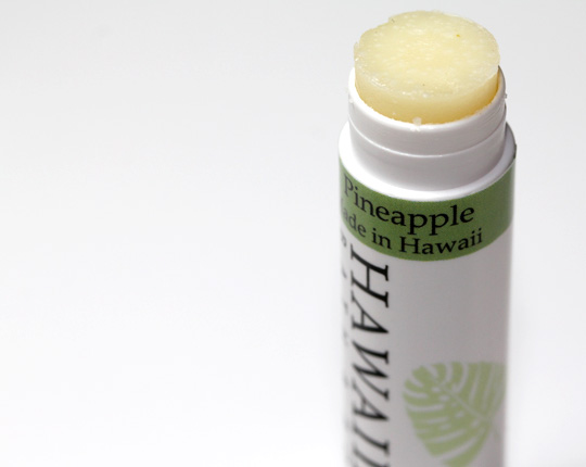 Hawaiian Bath and Body Review Pineapple Lip Balm open