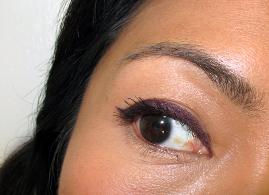 MAC Dark Diversion Fluidline on Karen of Makeup and Beauty Blog