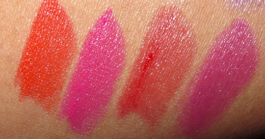 MAC Stylishly Yours swatches lipstick