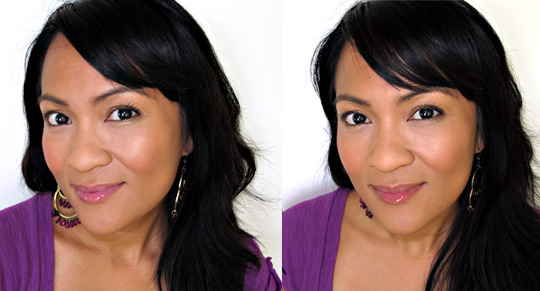 benefit kiss you ultra shine gloss on karen of makeup and beauty blog comparison