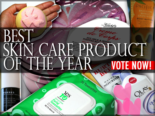 Cast your vote for the best skin care product of 2010