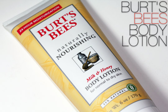 burts bees milk honey body lotion