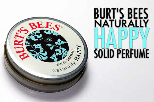 burts bees naturally happy solid perfume