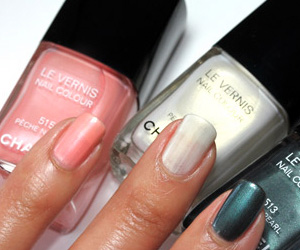 Chanel Black Pearl, Pearl Drop and Peche Nacree Nail Polish