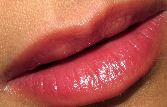 chanel emoi extrait de gloss on karen of makeup and beauty blog lip swatch