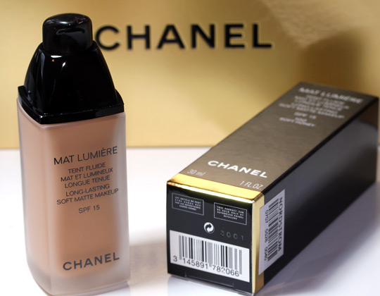 chanel mat lumiere soft honey bottle