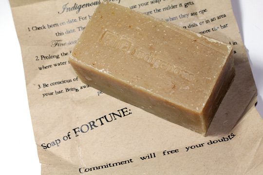 indigenous soap company love child review soap fortune