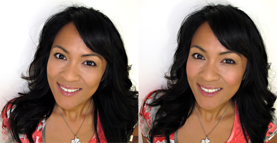 karen of makeup and beauty blog wearing benefit bella bamba before-and-after