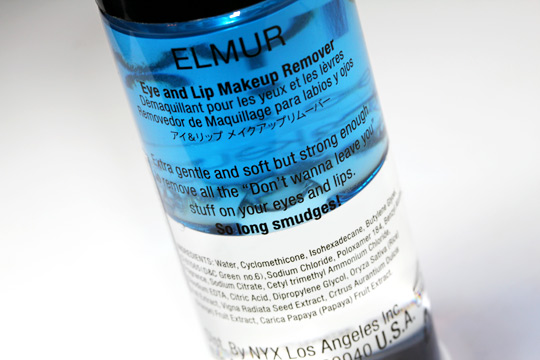 nyx eye and lip makeup remover review back of bottle