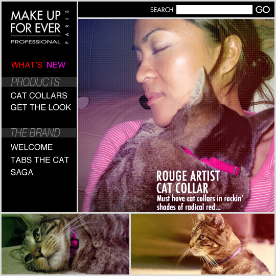 Tabs for the Make Up For Ever Rouge Artist Cat Collar