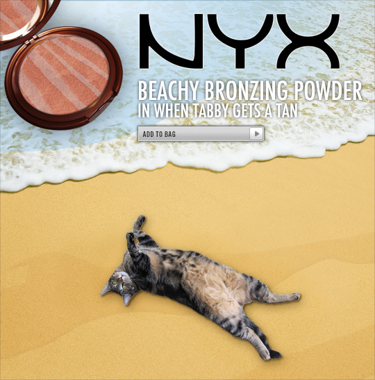 Tabs for NYX Beachy Bronzing Powder in When Tabby Gets a Tan