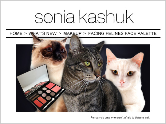 Tabs for Sonia Kashuk Facing Felines Face Palette