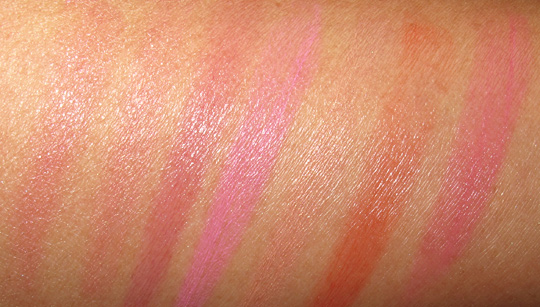 urban decay spring 2011 afterglow glide on cheek tint swatches