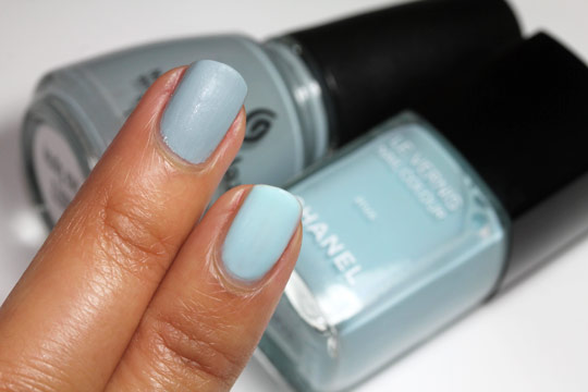 Chanel riva china glaze sea spray swatch