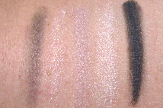 Dior Soft Pink Design Swatches on NW20 skin without flash