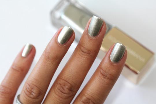 Dolce & Gabbana Platinum nail polish swatch