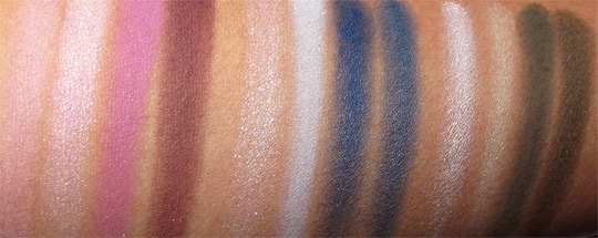MAC Wonder Woman Swatches Eye Quads all flash NC35