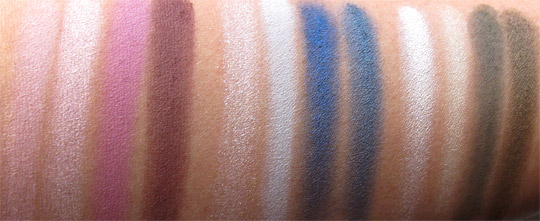MAC Wonder Woman Swatches Eye Quads all no flash NC35