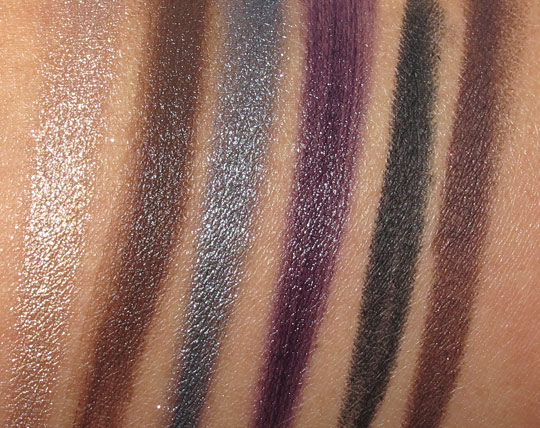 Smashbox Style Files eye liner palette swatches