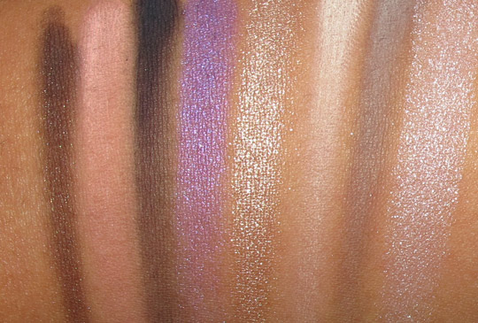 Smashbox Style Files eye shadow palette swatches